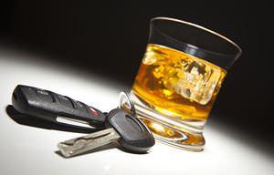Alcoholic drink car keys