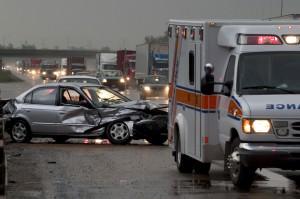 Accident car ambulance