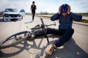 Car bicycle accident