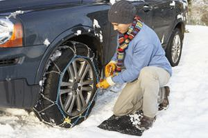 installing-snow-tire-chains